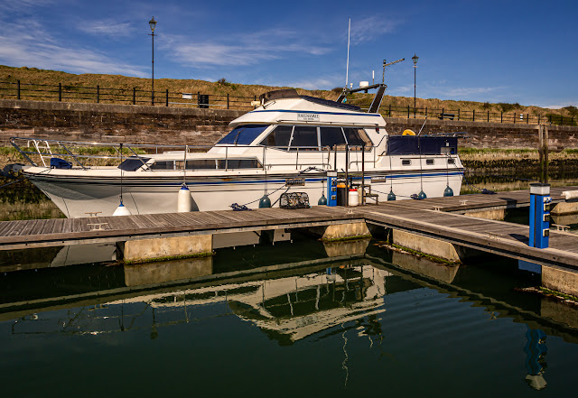 Photo of Ravensdale on a beautiful, calm, sunny day at Maryport Marina in Cumbria, UK