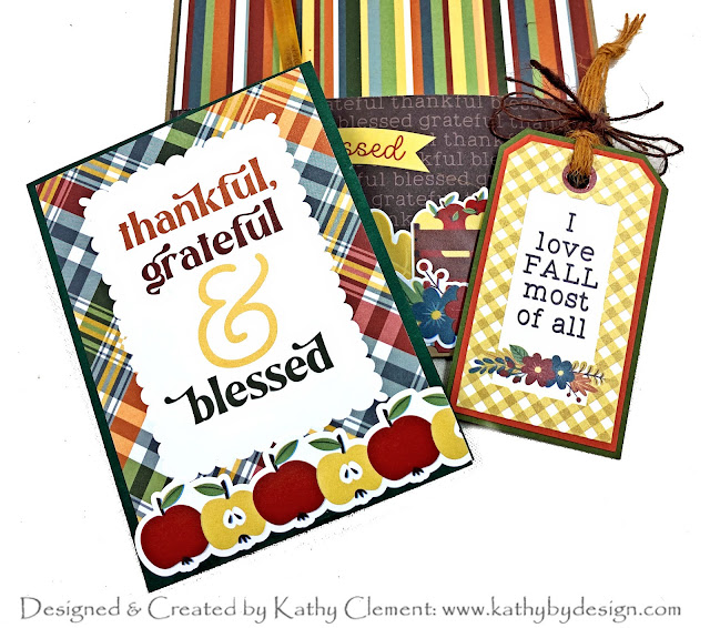 Photoplay Autumn Greetings Tea Wallet and Tag by Kathy Clement for Really Reasonable Ribbon