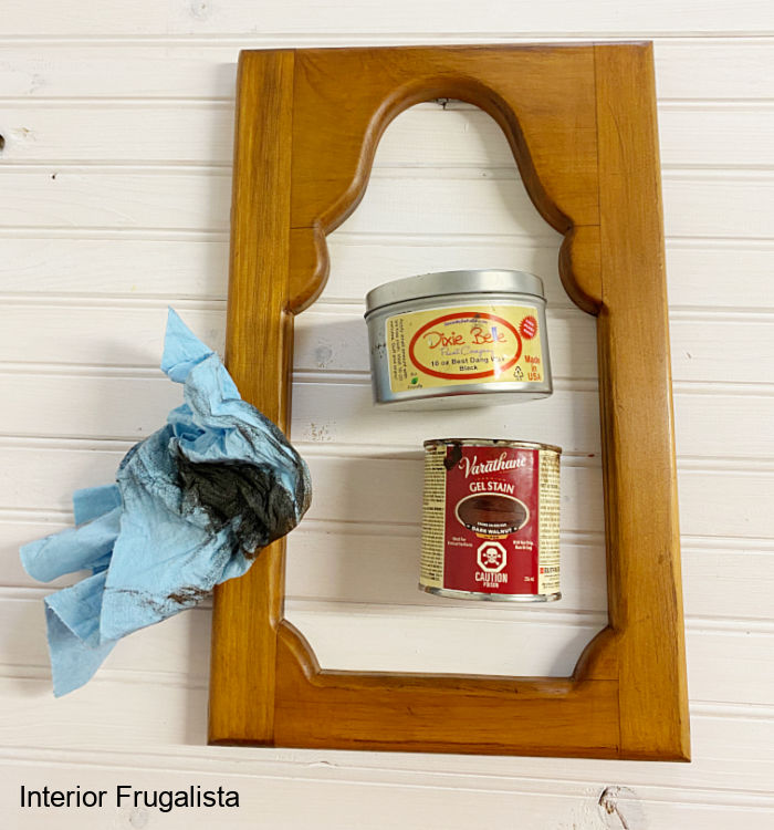 A unique engraved sunflower mason jar fall wall decor idea with Cricut aluminum sheets, repurposed shutter slats and upcycled thrift store wood frame.