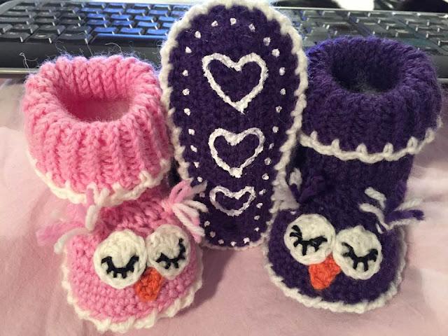 The Daily Knitter & Crocheter: Crochet owl slippers - free ...