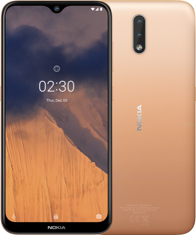Nokia 2.3 in Sand colour