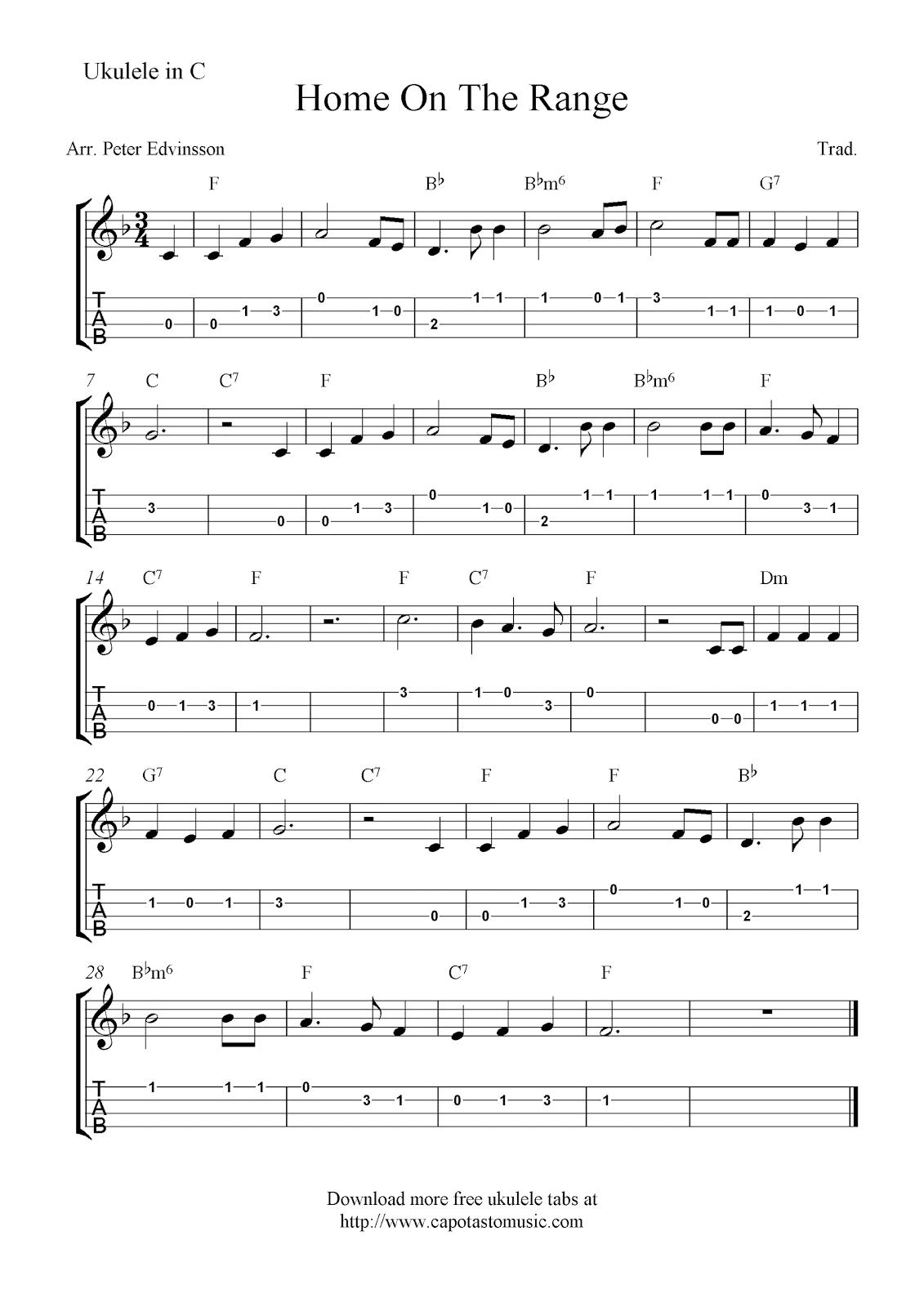 Can Can Ukulele Sheet Music