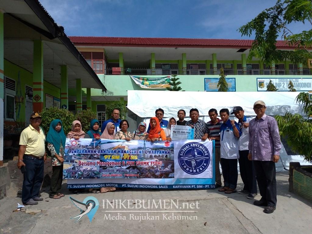Suzuki Salurkan Donasi untuk Fase Pemulihan Palu