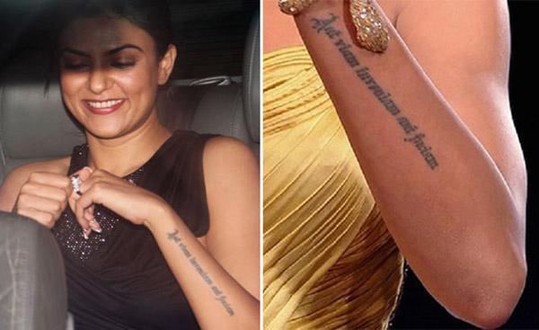 Sushmita Sen tattoo