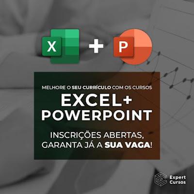 Cursos de Excel e PowerPoint 2 Cursos Livres Pela Compra de 1