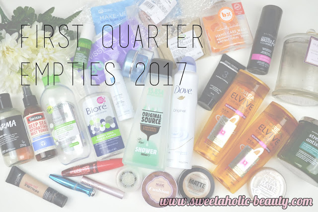 First Quarter Empties 2017 - Sweetaholic Beauty