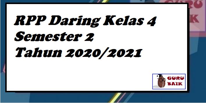 gambar rpp daring kelas 4 semester 2 format terbaru