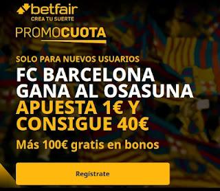 betfair promocuota Barcelona gana Osasuna 6 marzo 2021