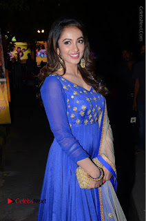 Telugu Actress Tejaswi Madivada Pos in Blue Long Dress at Nanna Nenu Na Boyfriends Audio Launch  0061.JPG