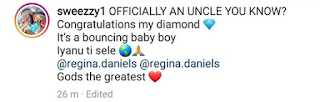 Regina Daniels And Hubby, Ned Nwoko Welcome A Baby Boy