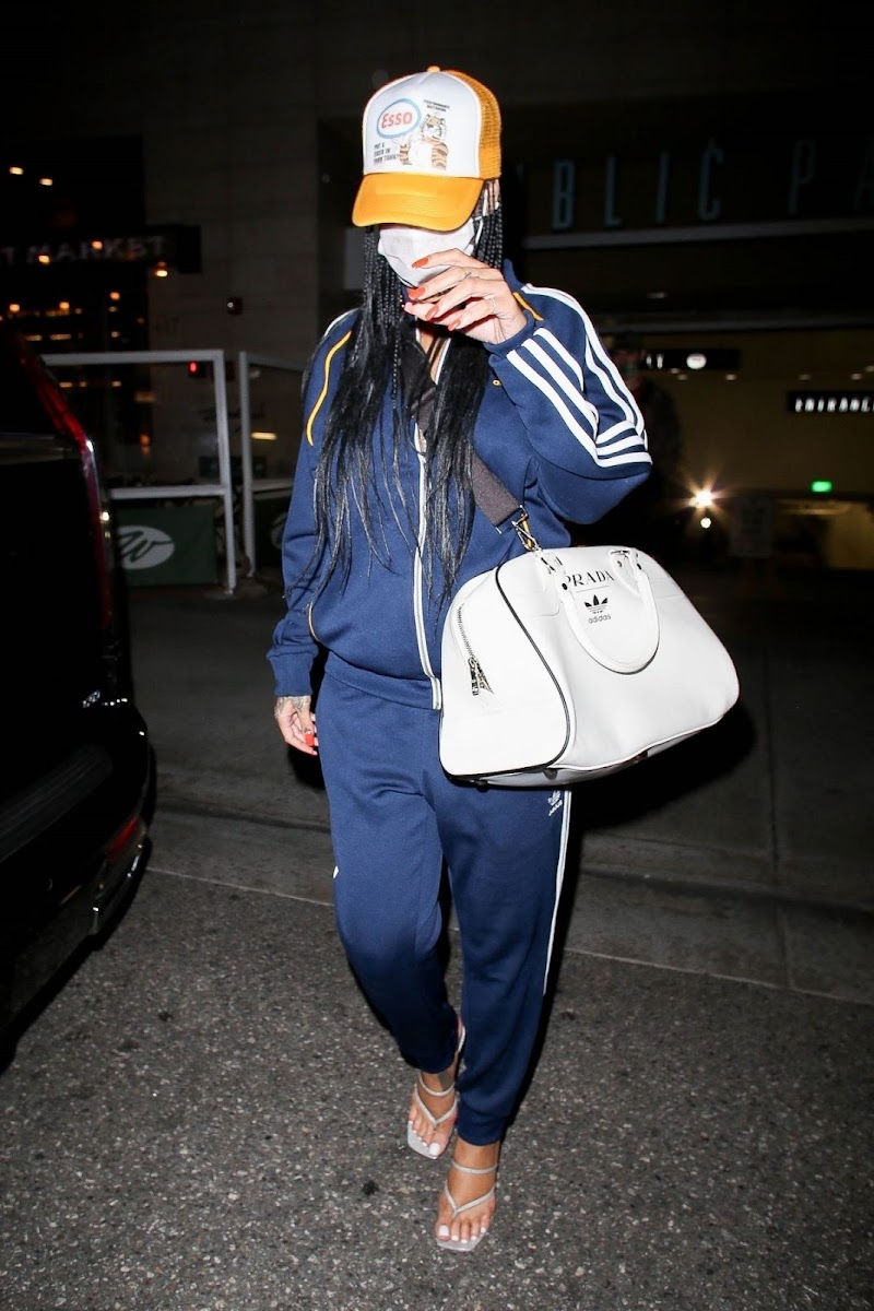 Rihanna Clicked in Adidas Tracksuit Out in Beverly Hills 12 Apr-2021