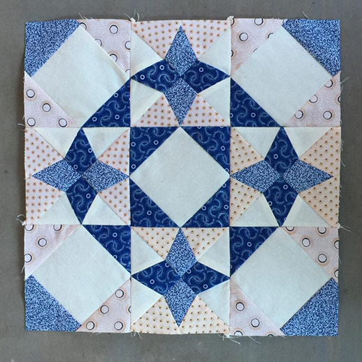 Blue North Strong and Free Block designed by Meerkat Shweshwe for Craftsy
