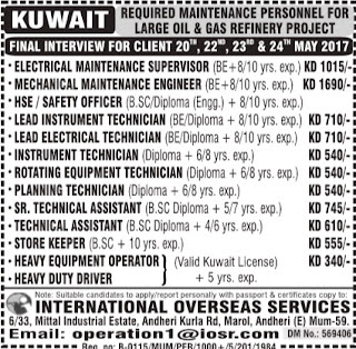 Oil & Gas refinery project jobs in Kuwait
