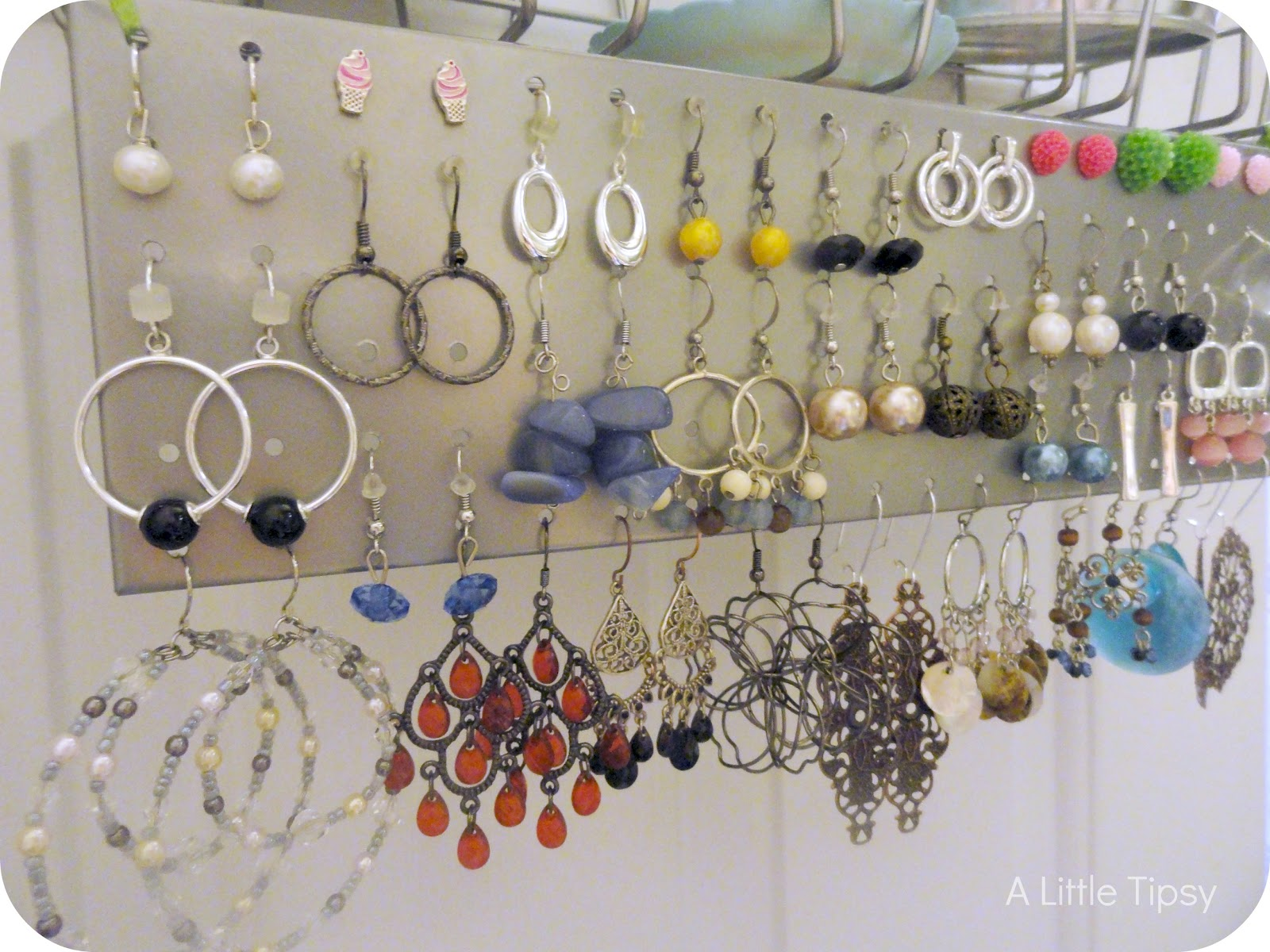 DIY Jewelry Organizer - A Little Tipsy