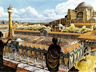 27 Δεκεμβρίου του 537 μ.Χ. τελούνται τα θυρανοίξια της Αγια-Σοφιάς, έργο των αρχιτεκτόνων Ανθεμίου και Ισιδώρου,