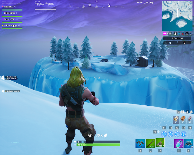 Accessible with the Bunker Jonesy outfit near a snowy bunker FORTBYTE Mission #26