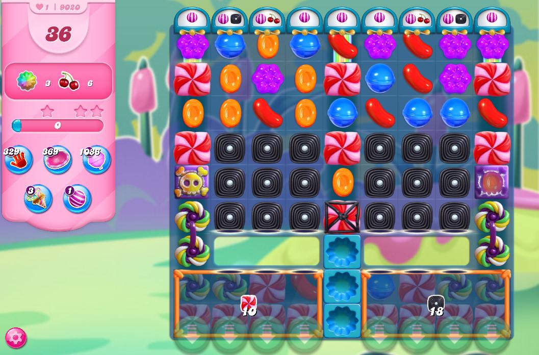 Candy Crush Saga level 9020