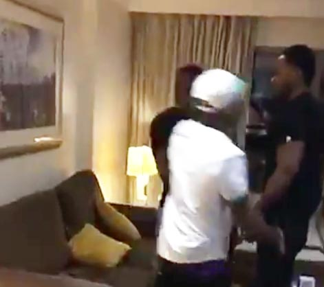 Video, Photos: Davido And His Crew Beat Up A Young Man In London