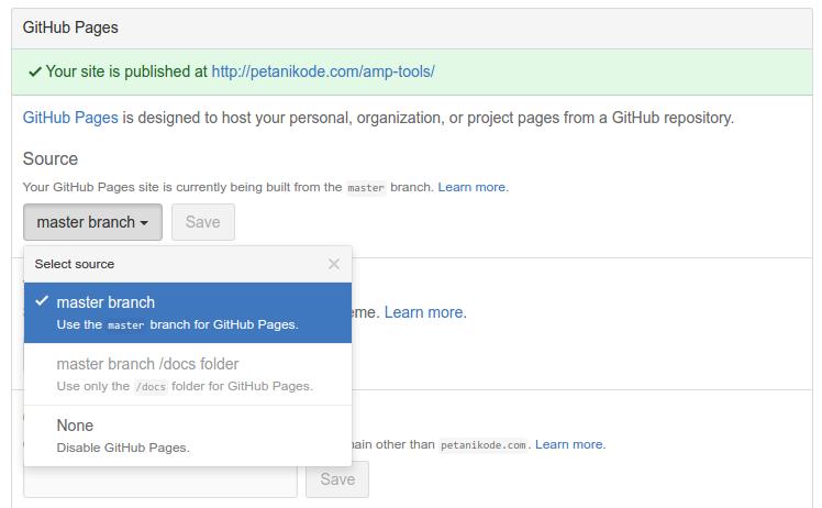 Membuat Github Pages untuk Repository