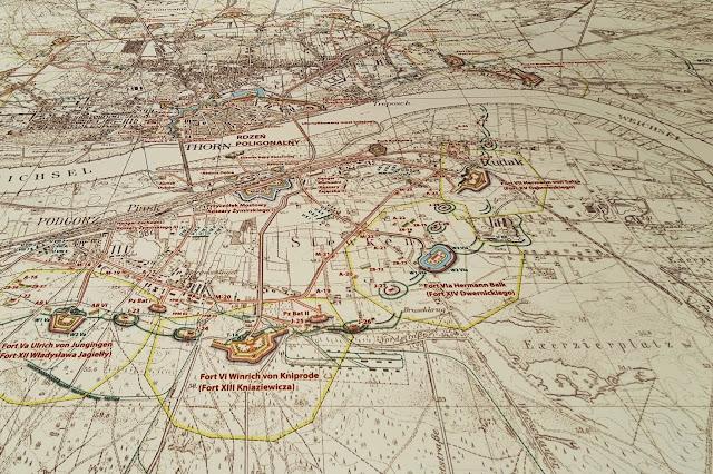 Mapa Twierdzy Toruń