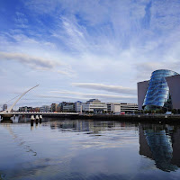 Dublin Photos: The Dublin Convention Centre and Samuel Beckett Bridge on the River Liffey