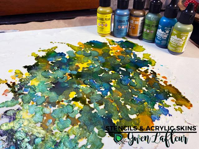 Stencils & Acrylic Skins Tutorial Step 4 - Gwen Lafleur