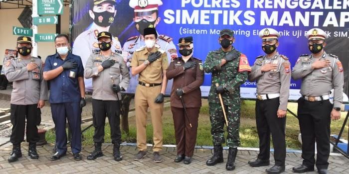 Pertama di Indonesia, Polres Trenggalek Launching Simetiks Mantap dan Visualisasi Uji Praktik Sim