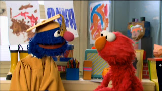 Professor Grover and Elmo talk about the alphabet. Sesame Street Preschool is Cool ABCs With Elmo