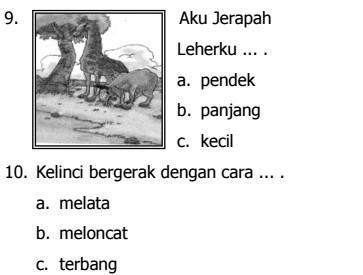 Soal UKK Bahasa Indonesia SD Kelas 2 Semester 1 Berkarakter Terbaru