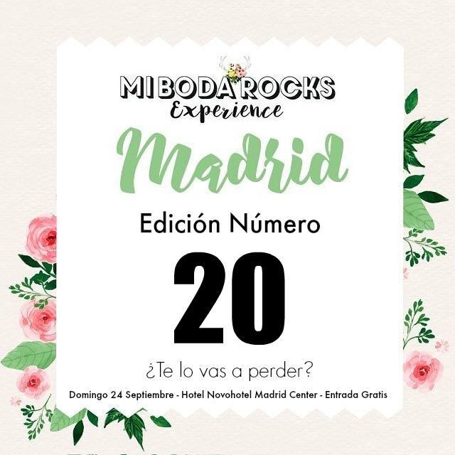 sorteo 20 edicion mi boda rocks experience madrid 2017