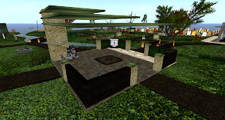 Image of the central pavilion at Healthinfo Island
