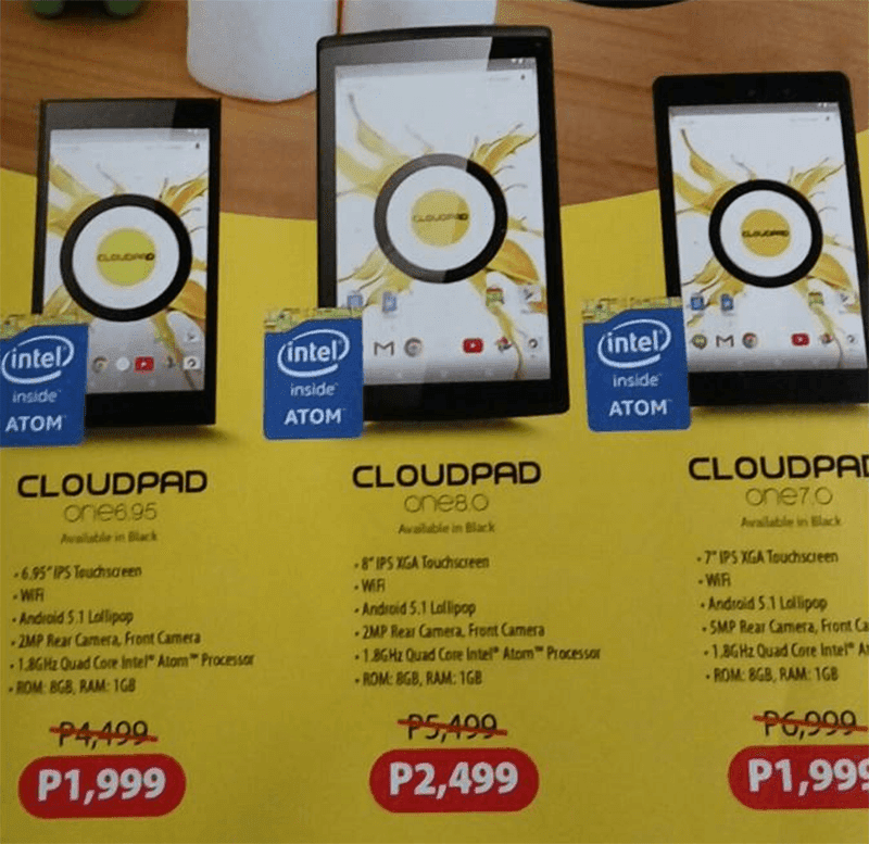 CloudPad One tablets with Marshmallow OS goes on sale