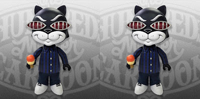 Designer Con 2018 Exclusive Bronson True Blue Edition Vinyl Figure by Mister Cartoon x The Hundreds