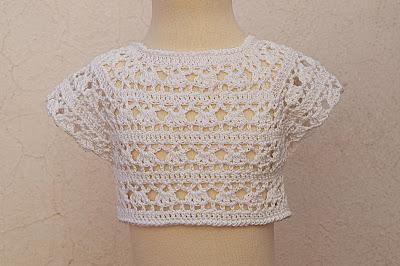 3 - Crochet Imagen Canesú blanco a crochet y ganchillo por Majovel Crochet