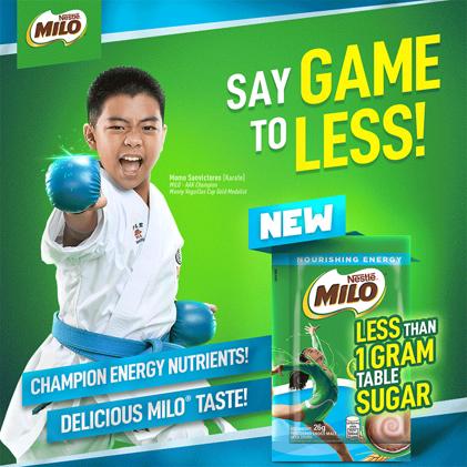 MILO® Less Than 1 Gram Table Sugar,Press Release, Milo, Food