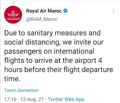 شركة الطيران المغربية تفرض شرطا جديدا على المسافرين