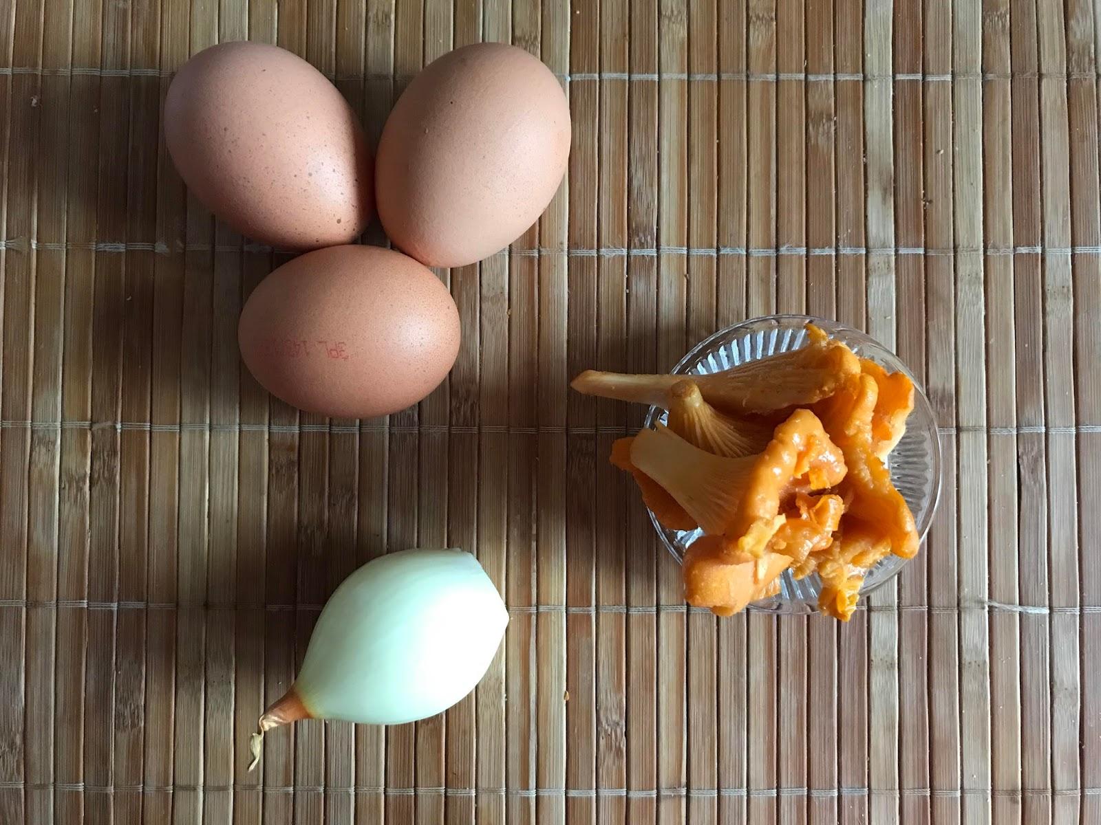 Huevos revueltos con míscalos - ingredientes