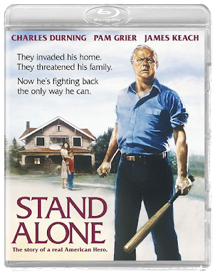 Cover art (side A) for Scorpion Releasing's Blu-ray release of STAND ALONE!