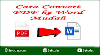 cara mudah convert pdf ke word