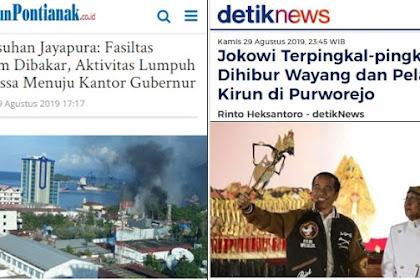 Disaat Papua Bergolak, Jokowi Malah Terpingkal-pingkal Dihibur Pelawak