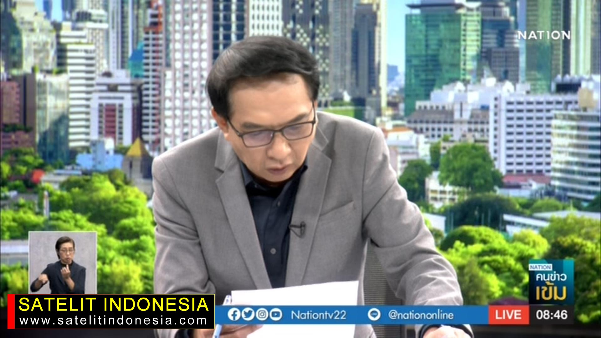 Frekuensi siaran Nation TV di satelit Thaicom 6 Terbaru