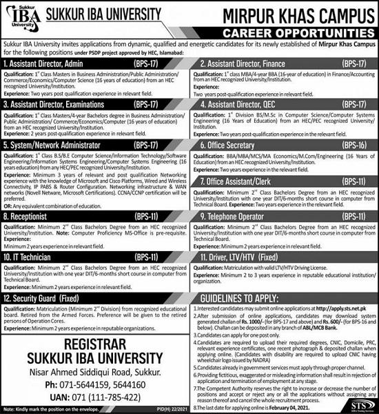 sukkur-iba-university-jobs-2021-sts-apply-online