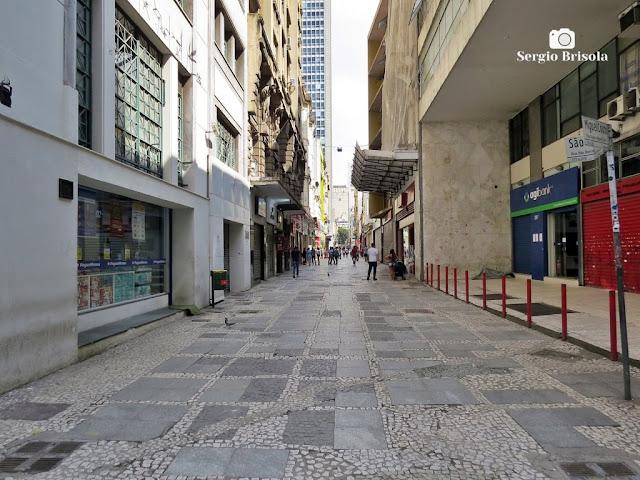 Rua São Bento durante a quarentena - São Paulo