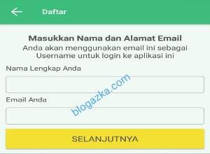 masukan nama dan alamat email