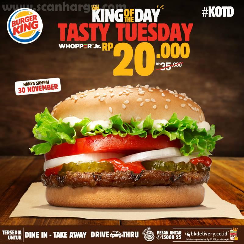Burger King Promo KOTD: Harga Spesial Hari ini hanya Rp 20.000*3