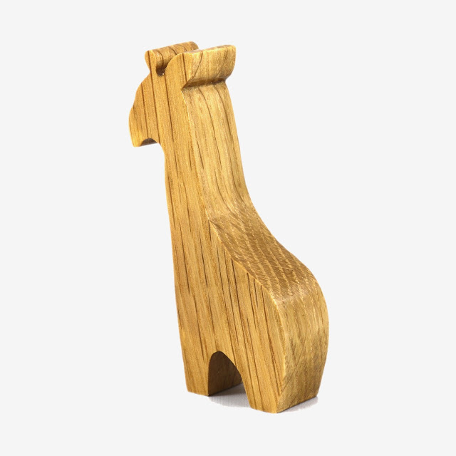 Cute Handmade Wooden Toy Giraffe