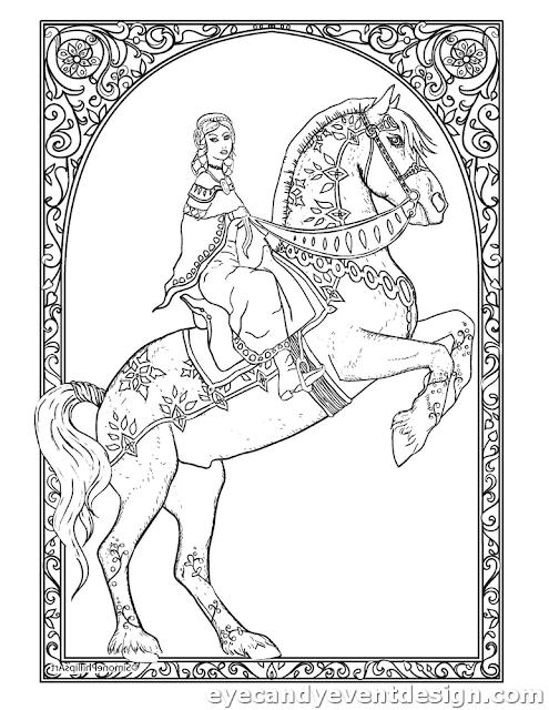 Pferde Malen Vorlagen