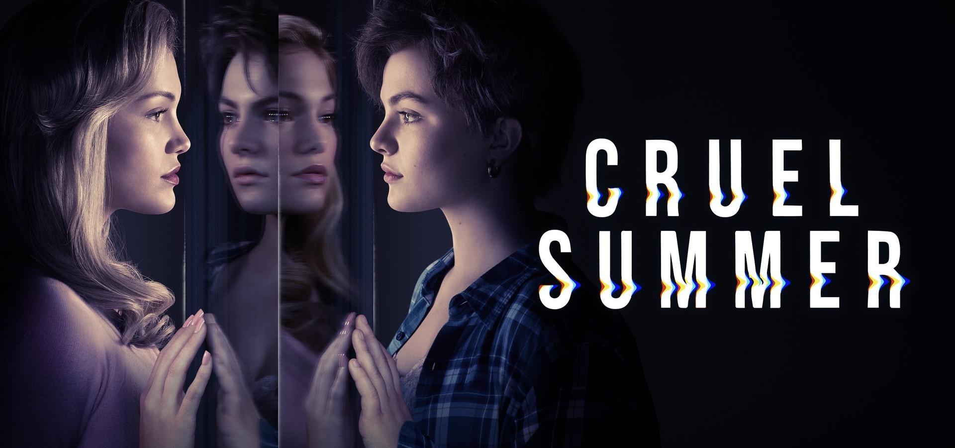 Janette y Kate en el poster promocional de Cruel Summer