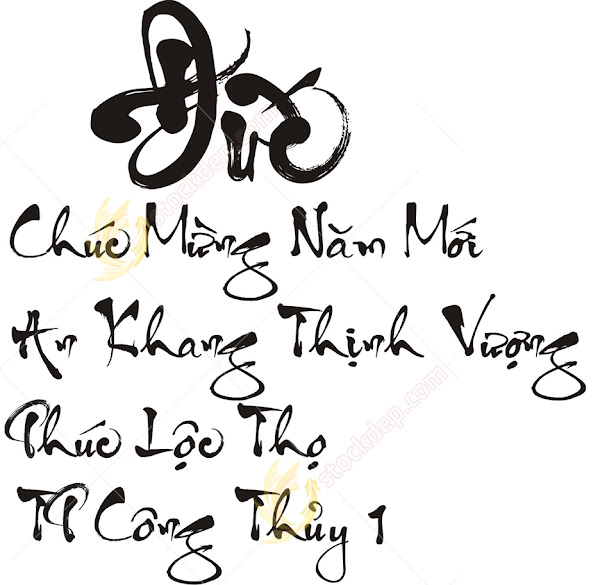 Download fonts thư Pháp công thủy Fonts tiếng việt