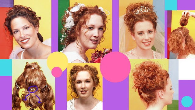 Three Updo Hairstyles for Curly Hair